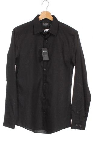 Ανδρικό πουκάμισο Burton of London, Μέγεθος S, Χρώμα Μαύρο, 65% πολυεστέρας, 35% βαμβάκι, Τιμή 6,51€