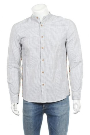 Ανδρικό πουκάμισο Desigual, Μέγεθος S, Χρώμα Γκρί, Βαμβάκι, Τιμή 24,16€