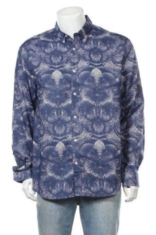Ανδρικό πουκάμισο Desigual, Μέγεθος XXL, Χρώμα Μπλέ, Βαμβάκι, Τιμή 36,80€