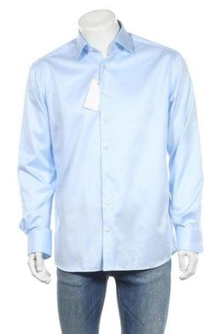 Мъжка риза Eterna, Размер L, Цвят Син, Памук, Цена 34,10лв.