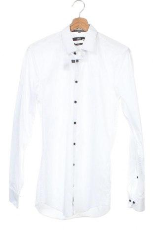 Ανδρικό πουκάμισο Jake*s, Μέγεθος S, Χρώμα Λευκό, 97% βαμβάκι, 3% ελαστάνη, Τιμή 8,04€