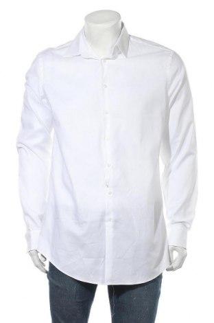 Ανδρικό πουκάμισο Jake*s, Μέγεθος L, Χρώμα Λευκό, Τιμή 15,30€