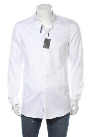 Ανδρικό πουκάμισο Jake*s, Μέγεθος L, Χρώμα Λευκό, Βαμβάκι, Τιμή 16,12€