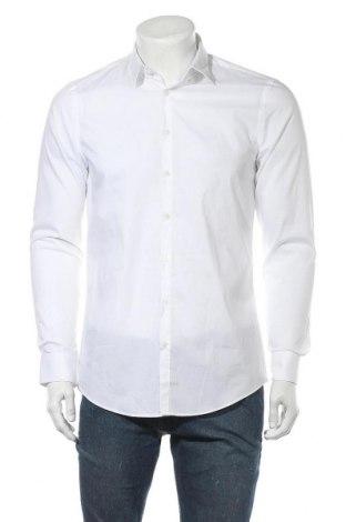 Ανδρικό πουκάμισο Jake*s, Μέγεθος M, Χρώμα Λευκό, 97% βαμβάκι, 3% ελαστάνη, Τιμή 15,59€