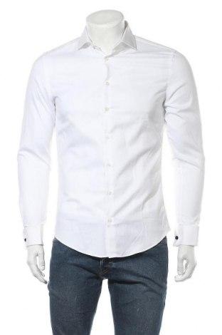 Ανδρικό πουκάμισο Jake*s, Μέγεθος S, Χρώμα Λευκό, Βαμβάκι, Τιμή 13,61€