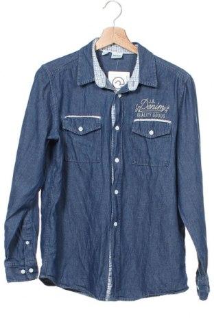 Ανδρικό πουκάμισο John Baner, Μέγεθος XS, Χρώμα Μπλέ, Βαμβάκι, Τιμή 11,69€