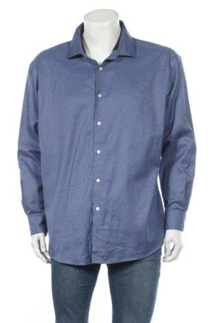 Мъжка риза Kenneth Cole, Размер 3XL, Цвят Син, 76% памук, 22% полиестер, 2% еластан, Цена 24,94лв.