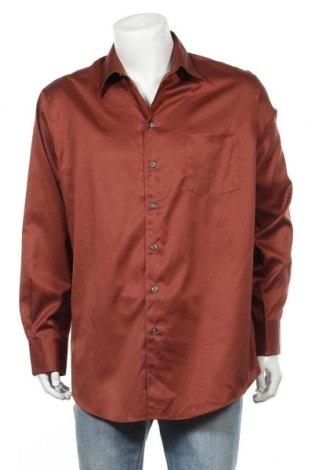 Мъжка риза Kenneth Cole, Размер XL, Цвят Кафяв, Памук, Цена 23,10лв.