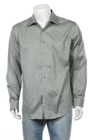 Мъжка риза Kenneth Cole, Размер XL, Цвят Зелен, 98% памук, 2% еластан, Цена 18,90лв.