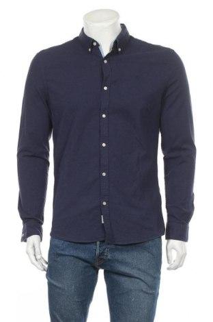 Ανδρικό πουκάμισο McNeal, Μέγεθος L, Χρώμα Μπλέ, 98% βαμβάκι, 2% ελαστάνη, Τιμή 22,43€