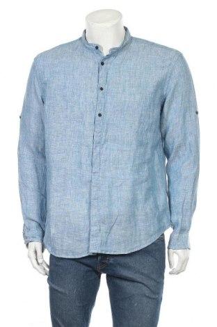Ανδρικό πουκάμισο McNeal, Μέγεθος L, Χρώμα Μπλέ, 100% λινό, Τιμή 24,74€
