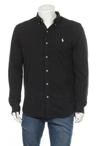 Pánská košile  Ralph Lauren, Velikost L, Barva Černá, Bavlna, Cena  1396,00Kč