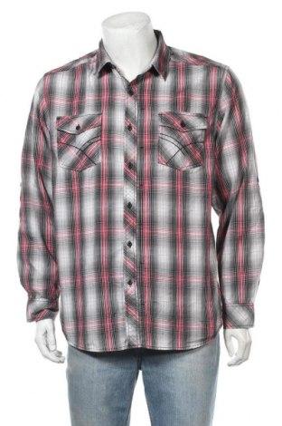Мъжка риза Route 66, Размер L, Цвят Многоцветен, 72% памук, 28% полиестер, Цена 6,07лв.