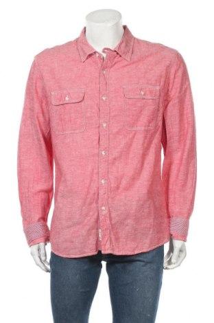 Pánská košile  The Fresh Brand, Velikost XXL, Barva Růžová, 55% len, 45% bavlna, Cena  230,00Kč