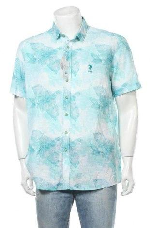 Мъжка риза U.S. Polo Assn., Размер XL, Цвят Зелен, Памук, Цена 66,36лв.