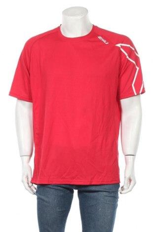 Мъжка тениска 2XU, Размер XXL, Цвят Червен, Полиестер, Цена 70,51лв.