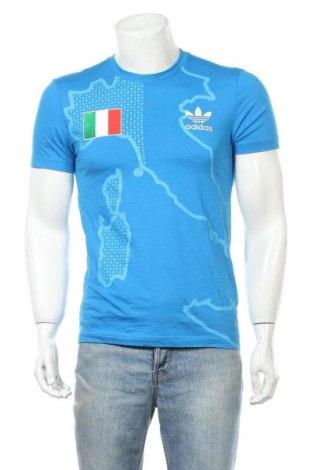 Мъжка тениска Adidas Originals, Размер S, Цвят Син, Памук, Цена 24,94лв.