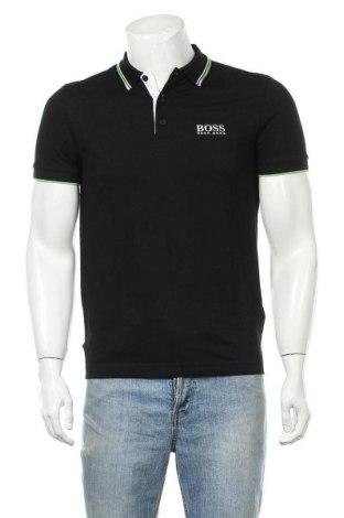 Tricou de bărbați Boss, Mărime S, Culoare Negru, 56% bumbac, 39% poliester, 6% elastan, Preț 200,86 Lei