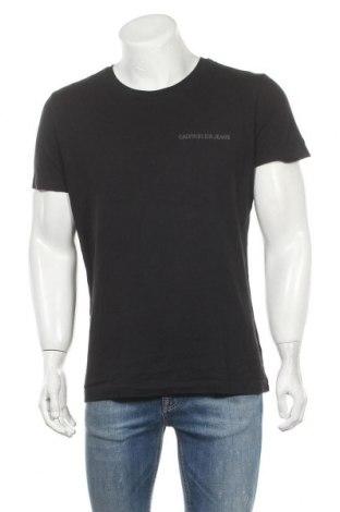 Ανδρικό t-shirt Calvin Klein Jeans, Μέγεθος L, Χρώμα Μαύρο, Βαμβάκι, Τιμή 28,50€