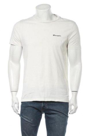 Tricou de bărbați Champion, Mărime M, Culoare Ecru, Bumbac, Preț 68,68 Lei