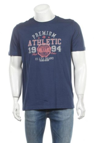 Мъжка тениска Christian Berg, Размер M, Цвят Син, Памук, Цена 22,40лв.