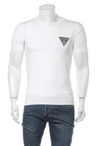 Ανδρικό t-shirt Guess, Μέγεθος S, Χρώμα Λευκό, 95% βαμβάκι, 5% ελαστάνη, Τιμή 20,21€