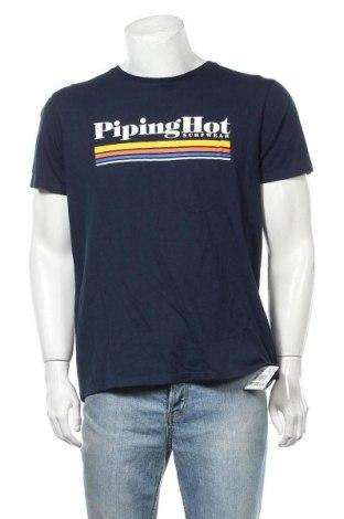 Ανδρικό t-shirt Piping Hot, Μέγεθος XL, Χρώμα Μπλέ, Βαμβάκι, Τιμή 9,87€
