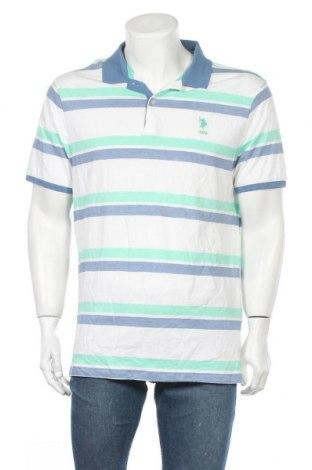 Мъжка тениска U.S. Polo Assn., Размер XL, Цвят Многоцветен, Памук, Цена 35,70лв.