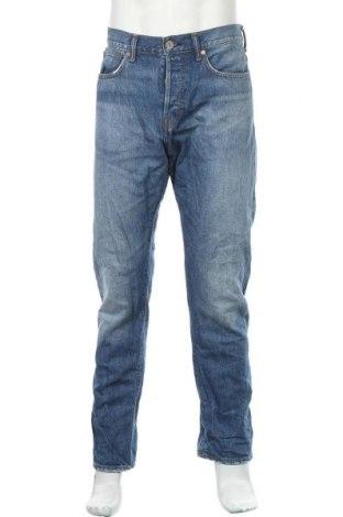 Мъжки дънки H&M, Размер L, Цвят Син, Памук, Цена 17,01лв.