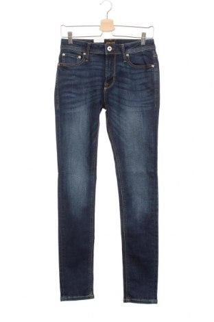 Мъжки дънки Jack & Jones, Размер S, Цвят Син, 85% памук, 13% полиестер, 2% еластан, Цена 31,15лв.
