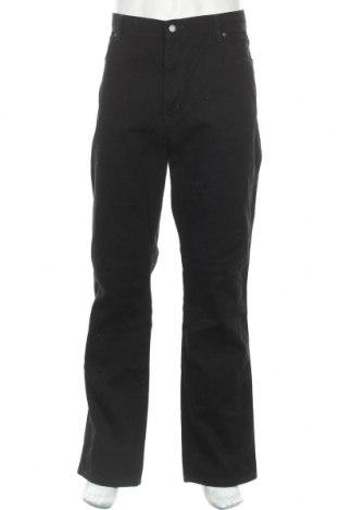 Мъжки дънки Wrangler, Размер XL, Цвят Черен, Памук, Цена 22,84лв.
