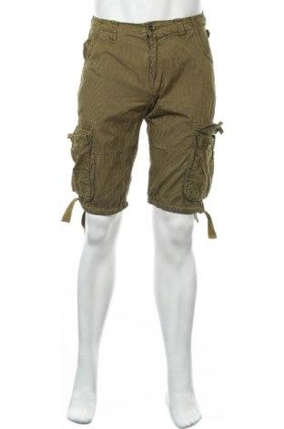 Мъжки къс панталон Alpha Industries, Размер M, Цвят Зелен, Памук, Цена 31,24лв.