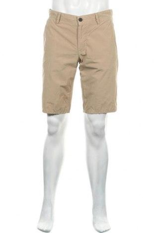 Мъжки къс панталон Boss Orange, Размер M, Цвят Бежов, Памук, Цена 106,47лв.