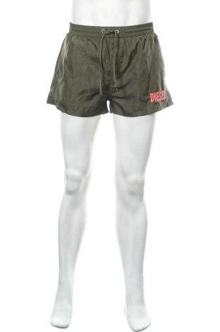Ανδρικό κοντό παντελόνι Diesel, Μέγεθος M, Χρώμα Πράσινο, Πολυεστέρας, Τιμή 56,19€