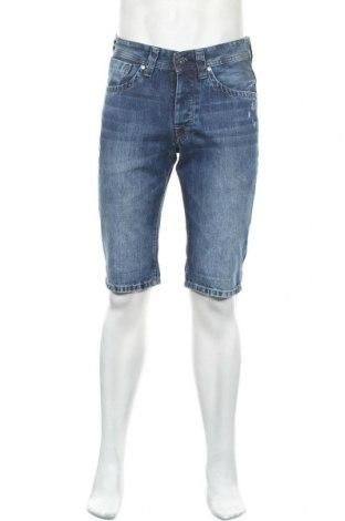 Pantaloni scurți de bărbați Pepe Jeans, Mărime S, Culoare Albastru, Bumbac, Preț 72,14 Lei