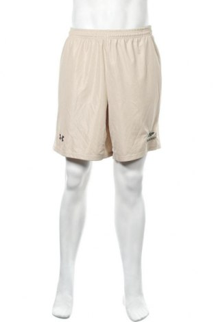 Мъжки къс панталон Under Armour, Размер M, Цвят Бежов, Полиестер, Цена 18,95лв.