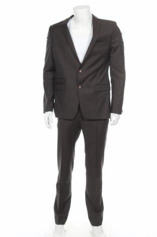 Ανδρικό κοστούμι Benvenuto, Μέγεθος L, Χρώμα Γκρί, Μαλλί, Τιμή 104,41€