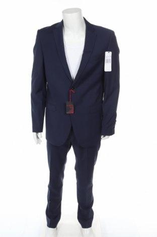 Ανδρικό κοστούμι Bugatti, Μέγεθος L, Χρώμα Μπλέ, 71% μαλλί, 27% πολυεστέρας, 2% ελαστάνη, Τιμή 95,37€