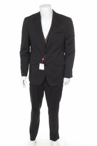 Pánský oblek  Class International, Velikost L, Barva Černá, 83% polyester, 15% viskóza, 2% elastan, Cena  983,00Kč