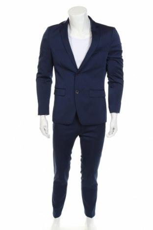 Pánský oblek  Thomas Goodwin, Velikost M, Barva Modrá, 85% polyester, 13% viskóza, 2% elastan, Cena  1233,00Kč