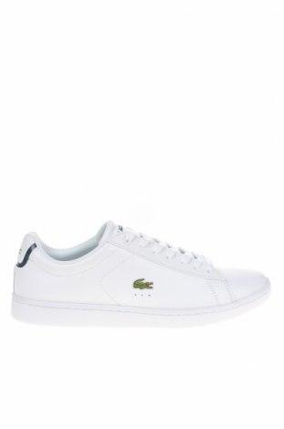 Мъжки обувки Lacoste, Размер 41, Цвят Бял, Естествена кожа, еко кожа, Цена 141,75лв.
