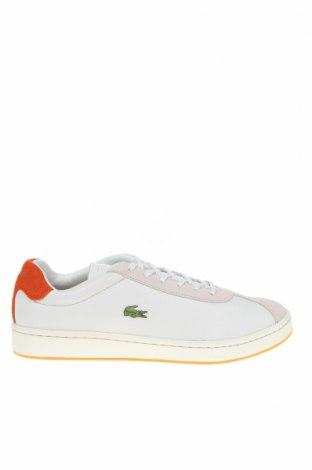 Мъжки обувки Lacoste, Размер 42, Цвят Бял, Естествена кожа, Цена 141,75лв.