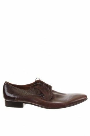 Мъжки обувки Lorenzi, Размер 45, Цвят Кафяв, Естествена кожа, Цена 22,68лв.