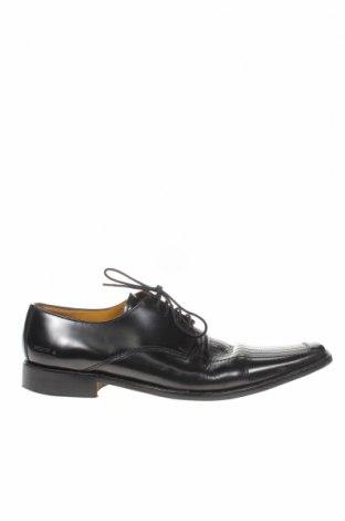 Ανδρικά παπούτσια Melvin & Hamilton, Μέγεθος 45, Χρώμα Μαύρο, Γνήσιο δέρμα, Τιμή 48,50€