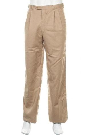 Pánské kalhoty  Corneliani, Velikost M, Barva Béžová, Vlna, Cena  593,00Kč