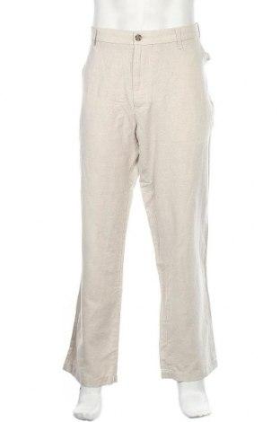 Ανδρικό παντελόνι Nautica, Μέγεθος XL, Χρώμα  Μπέζ, 52% λινό, 48% βαμβάκι, Τιμή 77,29€