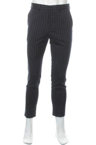 Pantaloni de bărbați New Look, Mărime S, Culoare Albastru, 70% poliester, 28% viscoză, 2% elastan, Preț 13,00 Lei