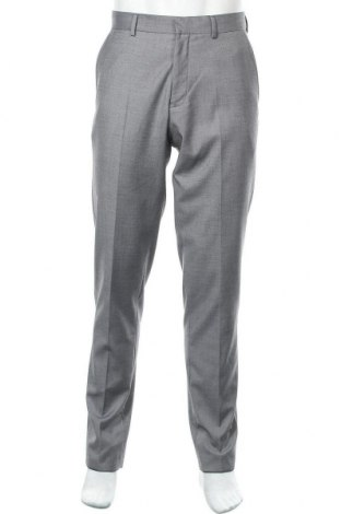 Мъжки панталон S.Oliver, Размер M, Цвят Сив, 80% полиестер, 18% вискоза, 2% еластан, Цена 19,58лв.