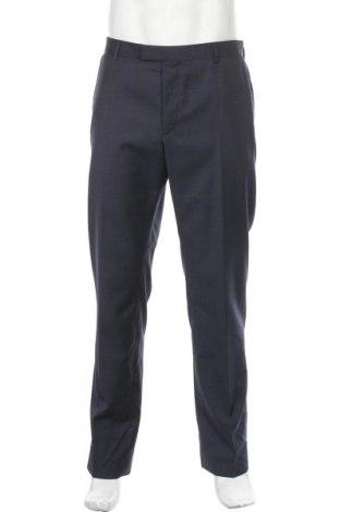 Ανδρικό παντελόνι Strellson, Μέγεθος L, Χρώμα Μπλέ, Μαλλί, Τιμή 76,94€