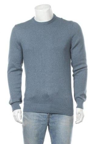 Мъжки пуловер Christian Berg, Размер M, Цвят Син, 80% памук, 20% вълна, Цена 18,96лв.